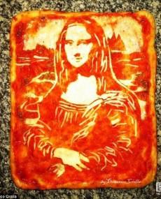 创意绅士肖像披萨